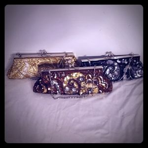 Apt 9 TRIO of Jeweled Evening Bags